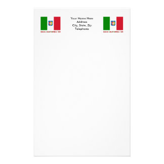 Baja California Sur Unofficial Flag Stationery Paper