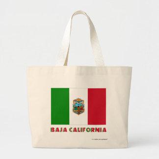 Baja California Unofficial Flag Jumbo Tote Bag