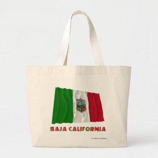Baja California Waving Unofficial Flag Jumbo Tote Bag