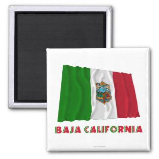 Baja California Waving Unofficial Flag Square Magnet