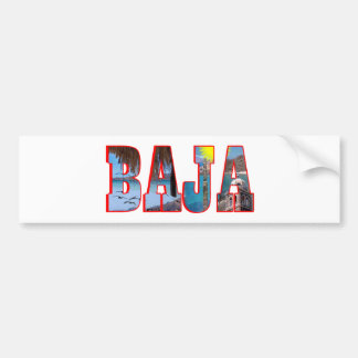 Baja postcard bumper sticker