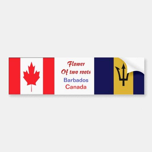 Bajan-canadian bumper stickers