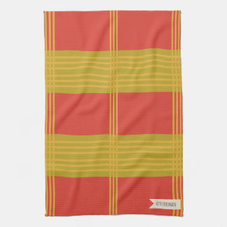 Bake a Cherry Pie on mustard stripes 1 Towels