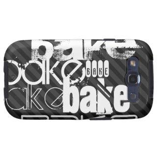 Bake; Black & Dark Gray Stripes Galaxy SIII Covers
