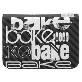 Bake; Black & Dark Gray Stripes Case For The Kindle