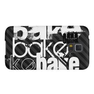 Bake; Black & Dark Gray Stripes Galaxy S5 Case
