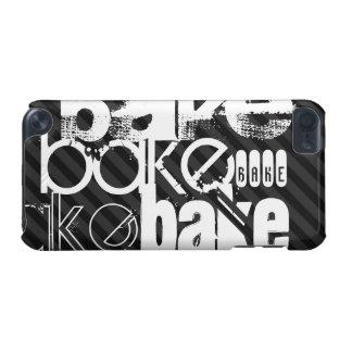 Bake; Black & Dark Gray Stripes iPod Touch (5th Generation) Case