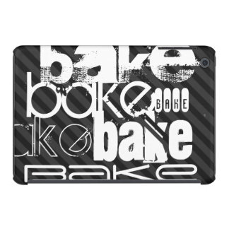 Bake; Black & Dark Gray Stripes iPad Mini Cases