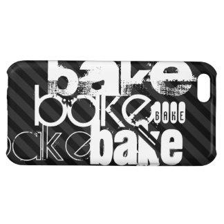 Bake; Black & Dark Gray Stripes iPhone 5C Cases