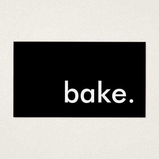 bake colour customisable business card
