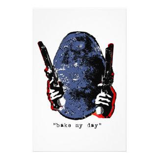 bake my day-blue stationery