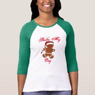 bake my day funny ginger snap christmas design T-Shirt