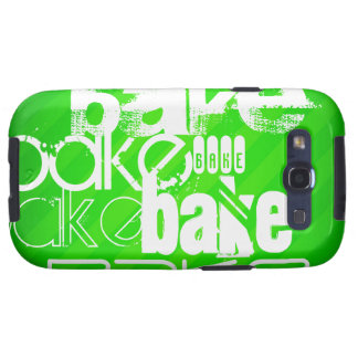Bake; Neon Green Stripes Samsung Galaxy SIII Cases