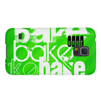 Bake; Neon Green Stripes Galaxy S5 Covers
