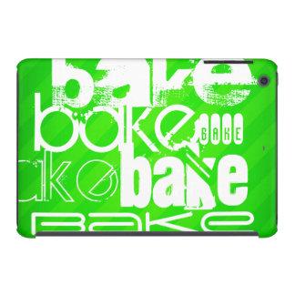 Bake; Neon Green Stripes iPad Mini Covers