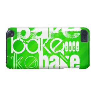 Bake; Neon Green Stripes iPod Touch (5th Generation) Covers
