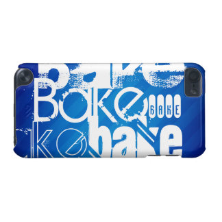 Bake; Royal Blue Stripes iPod Touch (5th Generation) Cover