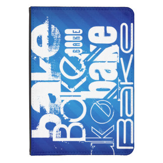 Bake; Royal Blue Stripes Kindle Case