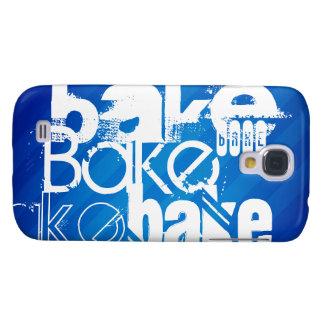 Bake; Royal Blue Stripes Galaxy S4 Cases