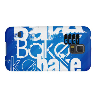 Bake; Royal Blue Stripes Galaxy S5 Covers