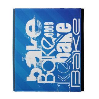 Bake; Royal Blue Stripes iPad Folio Covers