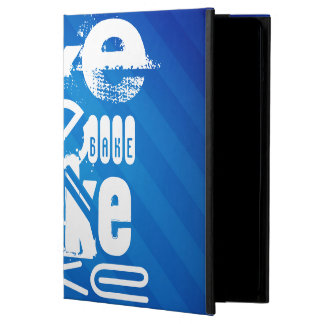 Bake; Royal Blue Stripes iPad Air Cases