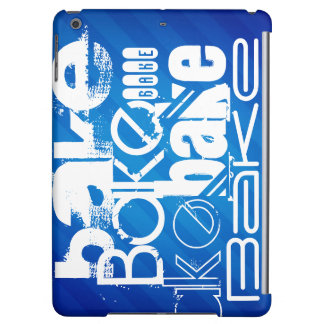 Bake; Royal Blue Stripes iPad Air Cover