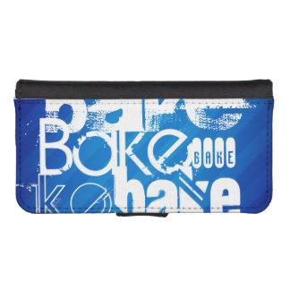 Bake; Royal Blue Stripes iPhone 5 Wallet