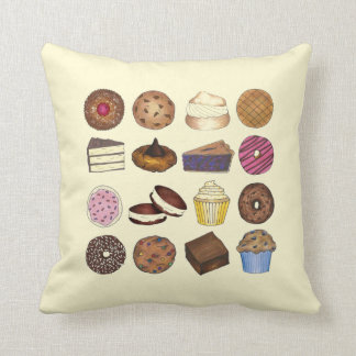 Bake Sale Cupcake Brownie Pie Cake Baked Goods Cushion