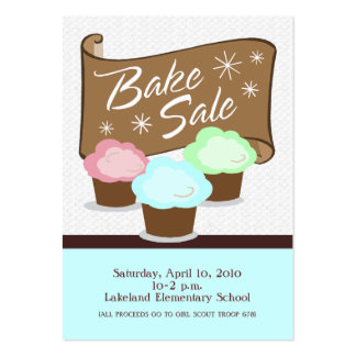 Bake Sale Event Card Pack Of Chubby Business Cards