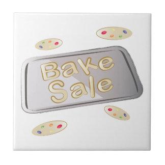 Bake Sale Small Square Tile