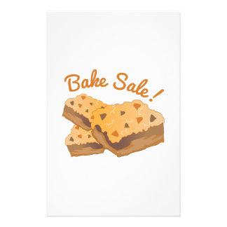 Bake Sale! Personalized Stationery