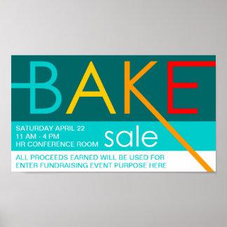 bake sale (typographic) poster