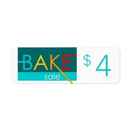 bake sale typographic price tags