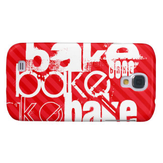 Bake; Scarlet Red Stripes Galaxy S4 Case