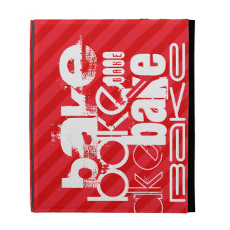 Bake; Scarlet Red Stripes iPad Folio Cover