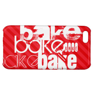 Bake; Scarlet Red Stripes Case For iPhone 5C
