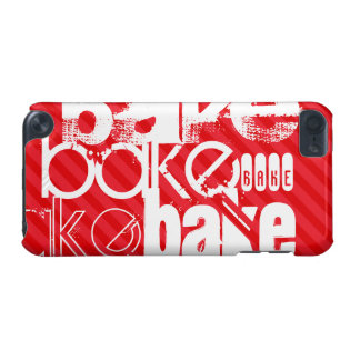 Bake; Scarlet Red Stripes iPod Touch (5th Generation) Cases