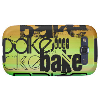 Bake; Vibrant Green, Orange, & Yellow Galaxy SIII Cases