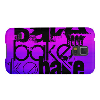Bake; Vibrant Violet Blue and Magenta Galaxy S5 Cover