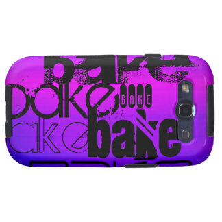 Bake; Vibrant Violet Blue and Magenta Galaxy SIII Covers