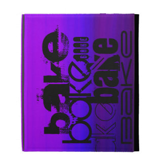Bake; Vibrant Violet Blue and Magenta iPad Folio Cover