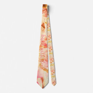 Bake with love and peaches collage tie