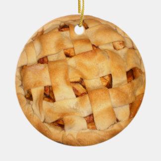 Baked Apple Pie Round Ceramic Decoration