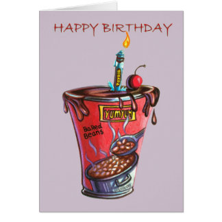 Baked Bean Birthday Greeting Card