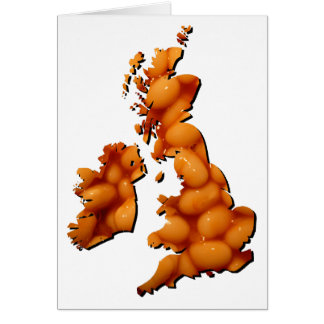 Baked bean Britain Card