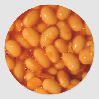 Baked Beans Classic Round Sticker