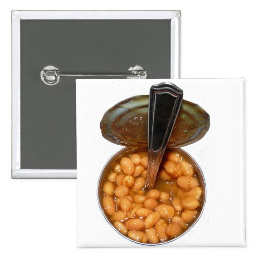 Baked Beans in Tin Can with Spoon Button