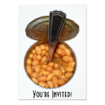 Baked Beans in Tin Can with Spoon Custom Invite