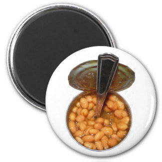 Baked Beans in Tin Can with Spoon 6 Cm Round Magnet